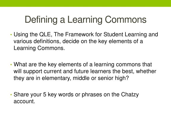 Defining a Learning Commons