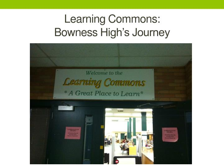 Learning Commons: