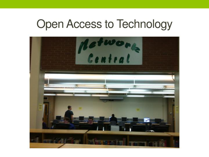 Open Access to Technology