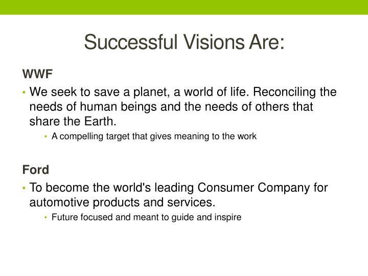 Successful Visions Are: