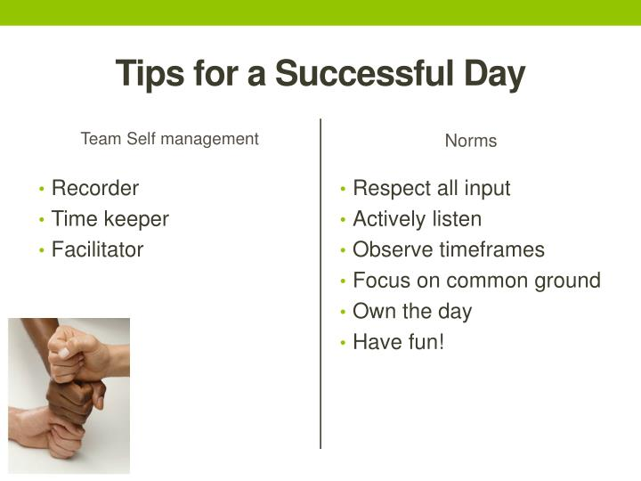 Tips for a Successful