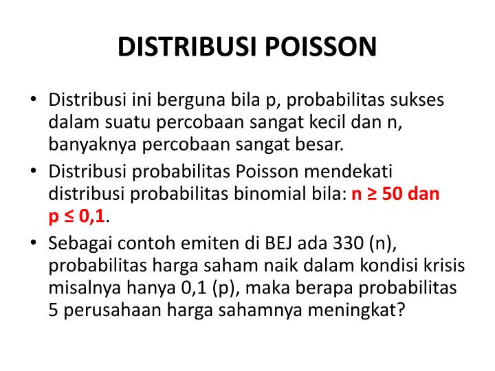 DISTRIBUSI POISSON