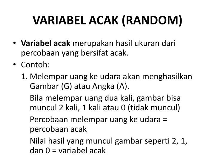 VARIABEL ACAK