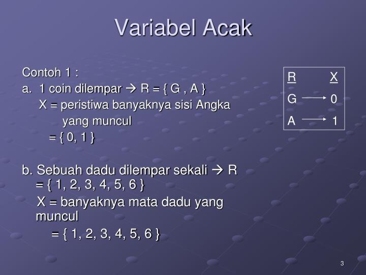 Variabel Acak