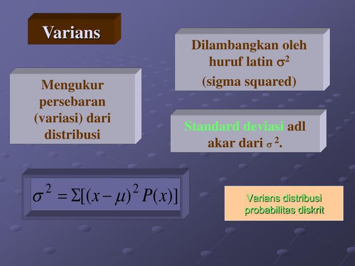 Varians distribusi probabilitas diskrit