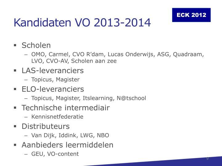 Kandidaten VO 2013-2014