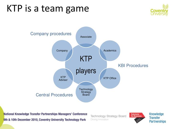 KTP is a team game