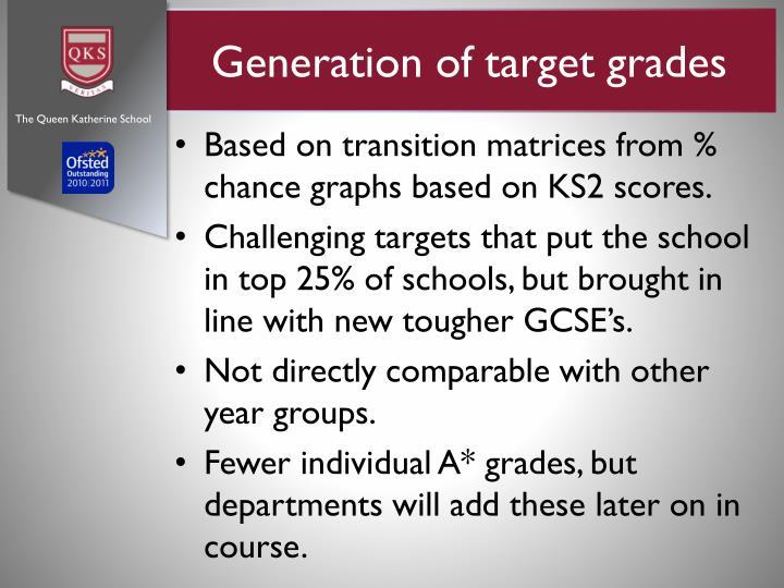 Generation of target grades