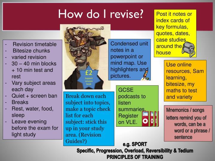 How do I revise?