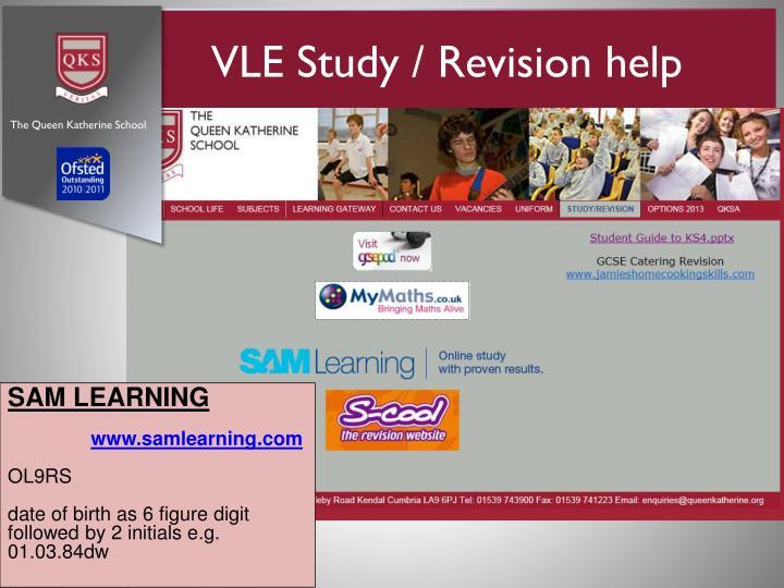 VLE Study / Revision help