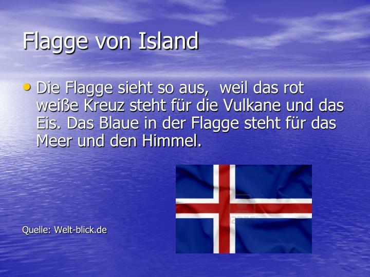 Flagge von Island