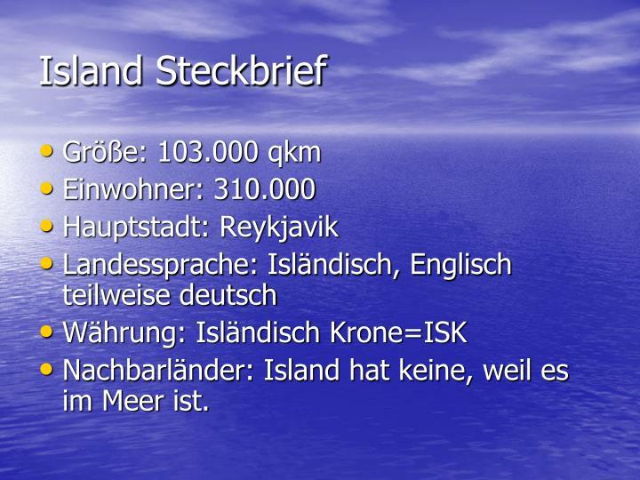 Island Steckbrief