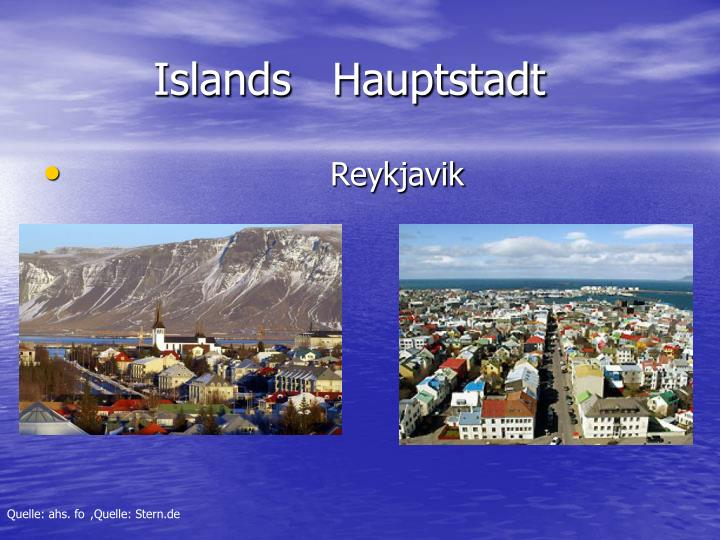 Islands   Hauptstadt