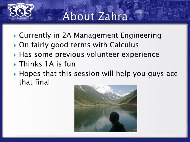 About Zahra