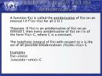 indefinite integrals and the antiderivative