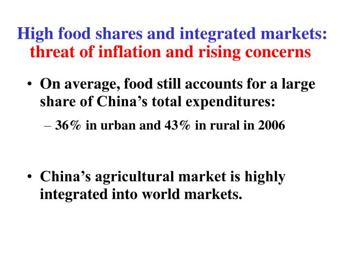 High food shares and integrated markets: