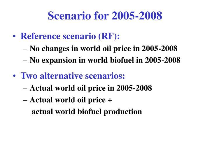 Scenario for 2005-2008