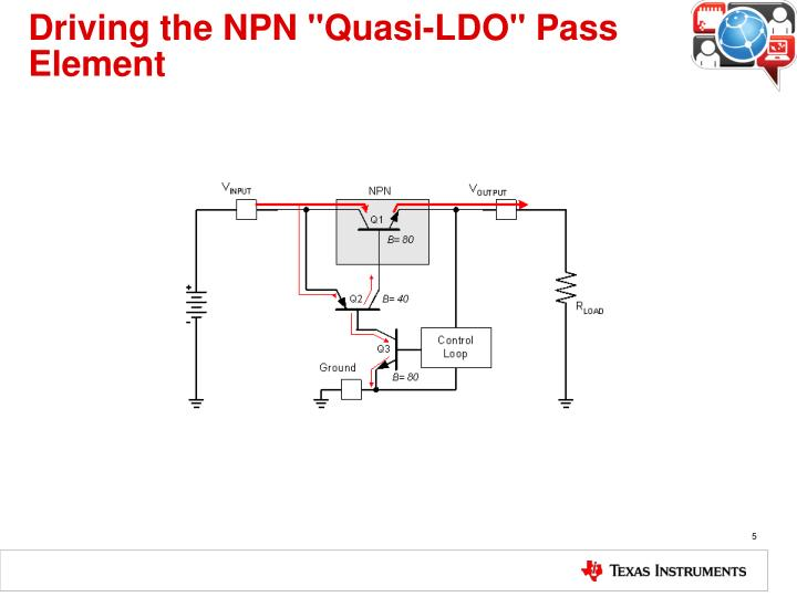 "Driving the NPN ""Quasi-LDO"" Pass Element"