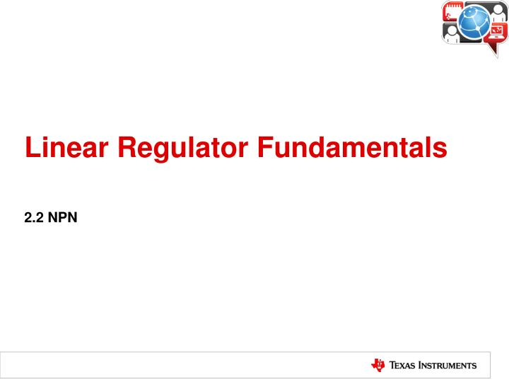 Linear regulator fundamentals