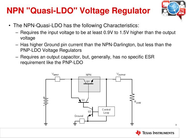 Npn quasi ldo voltage regulator