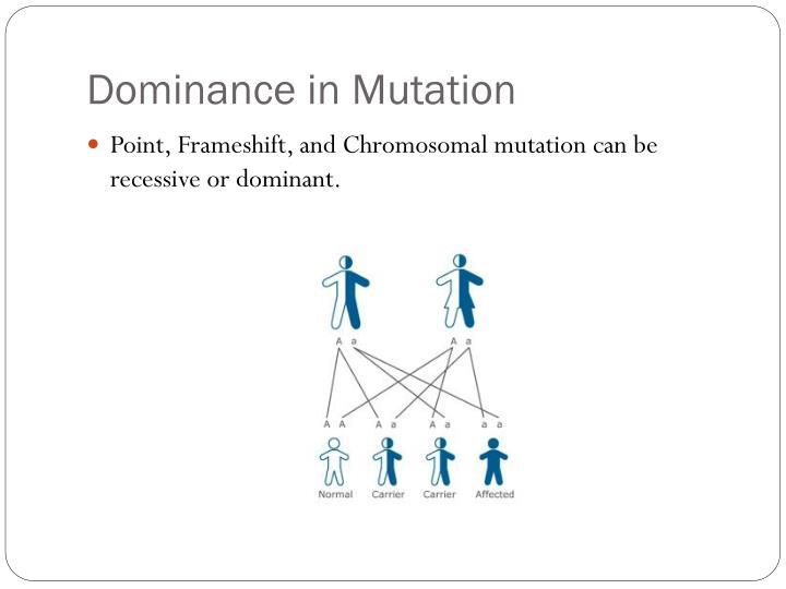 Dominance in Mutation