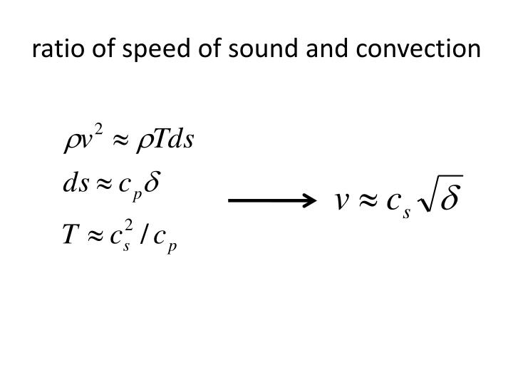 ratio of speed of sound and convection