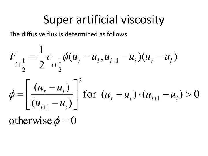 Super artificial viscosity