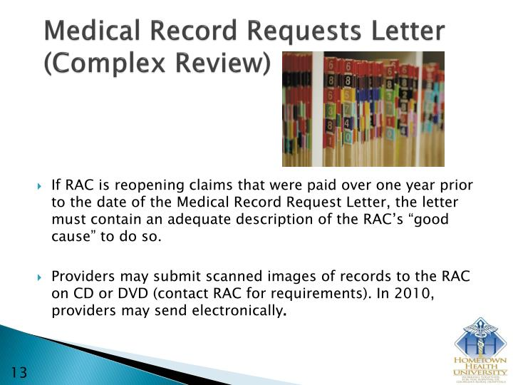 Medical Record Requests Letter (Complex Review)