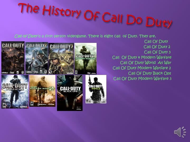 The history of call d o d uty