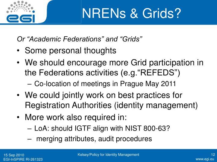 NRENs & Grids?