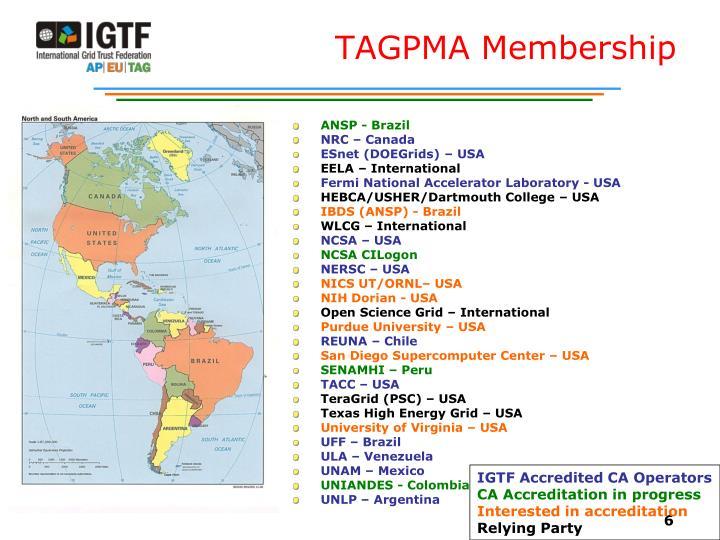 TAGPMA Membership