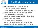 the grid security model
