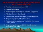 program pusat penilaian kompetensi pns tahun 2005 2015