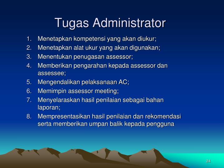 Tugas Administrator