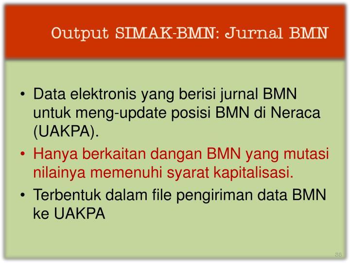 Output SIMAK-BMN: