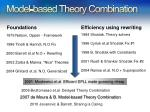 model based theory combination