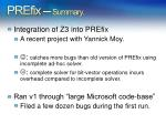 prefix summary