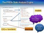 the prefix static analysis engine