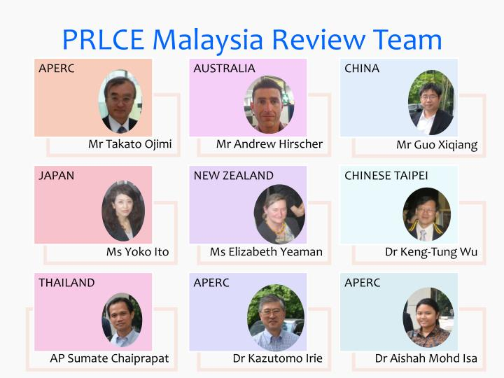 PRLCE Malaysia Review Team
