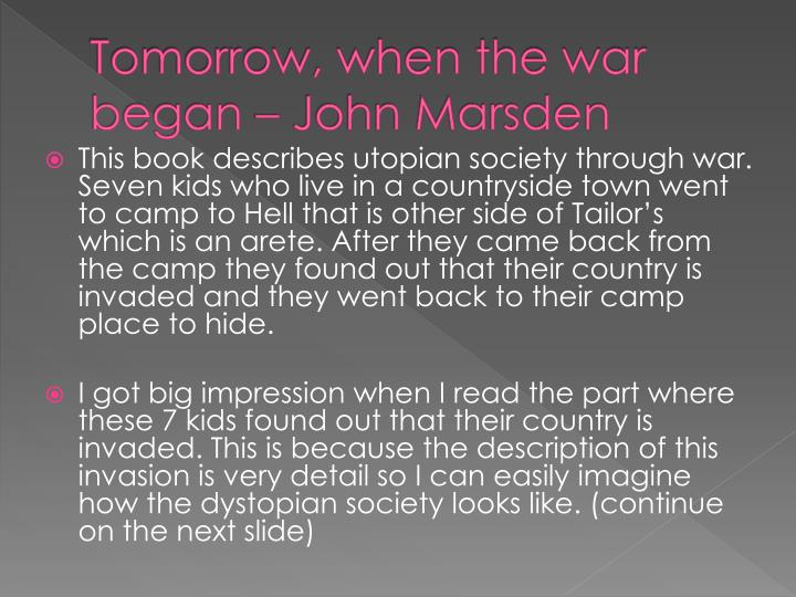 Tomorrow, when the war began – John Marsden