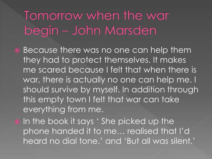 Tomorrow when the war begin – John Marsden