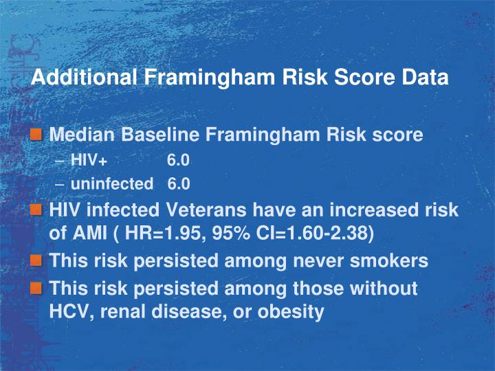 Additional Framingham Risk Score Data