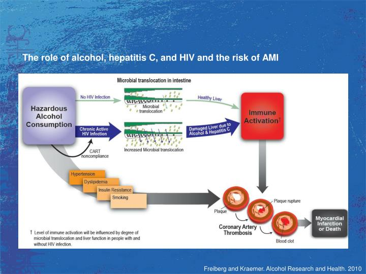 The role of alcohol, hepatitis C, and HIV and the risk of AMI