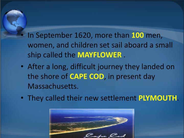 In September 1620, more than
