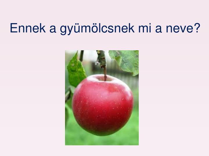 Ennek a gyümölcsnek mi a neve?
