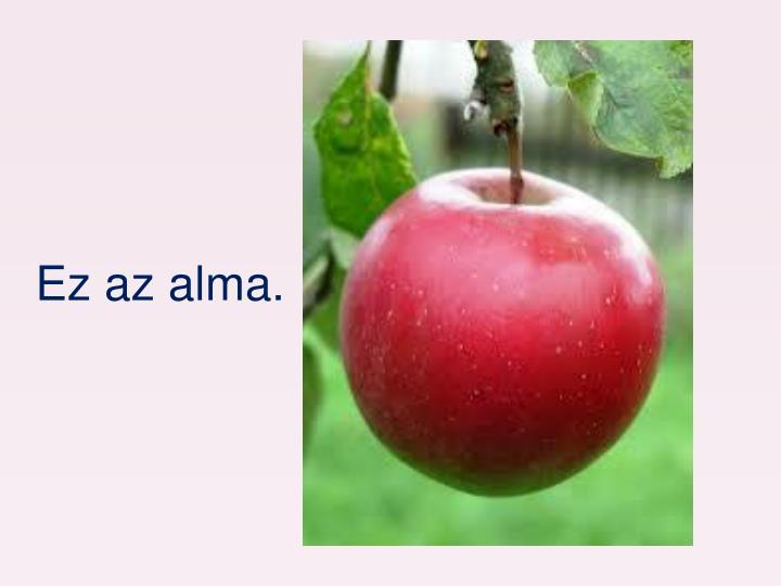 Ez az alma.