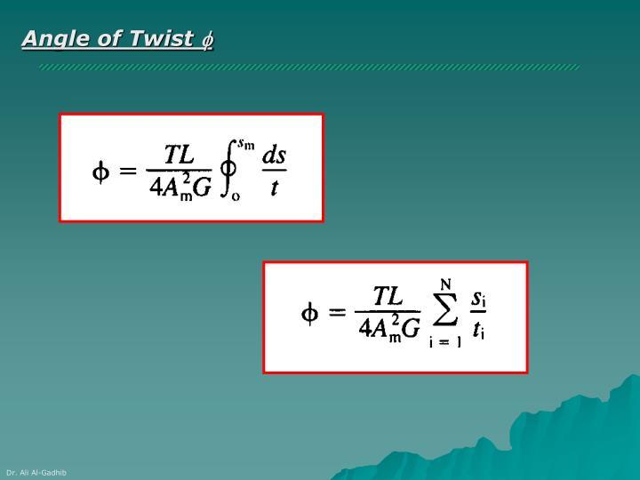 Angle of Twist