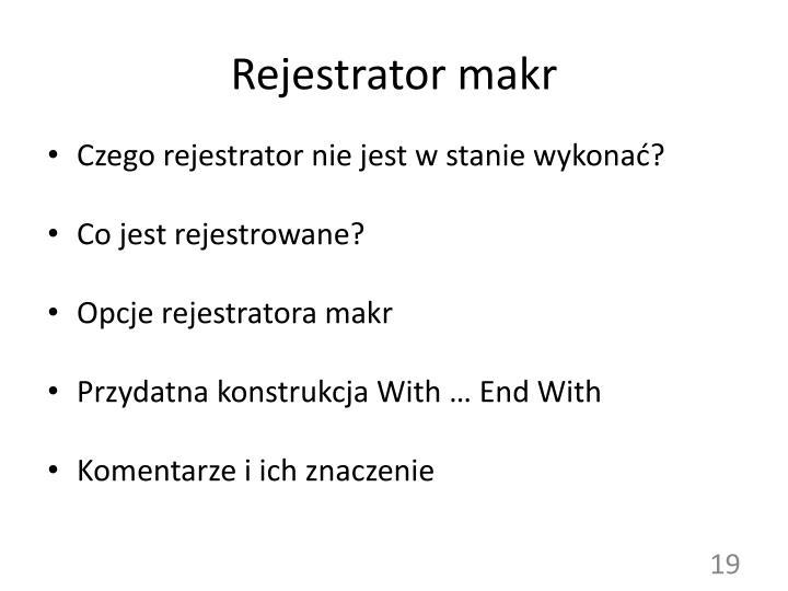 Rejestrator makr