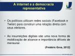 a internet e a democracia representativa1