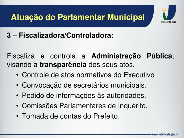 Atuação do Parlamentar Municipal